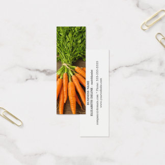 Modern Clean Carrots Photo Nutritionist Mini Business Card