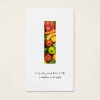 Modern Clean Colorful Vegetables Nutritionist Chef Business Card