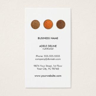 Modern Clean Seeds Health Nutritionist Business Card
