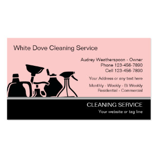 Modern Cleaning Business Cards