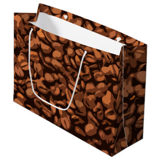 Modern Coffee Bean Large Gift Bag