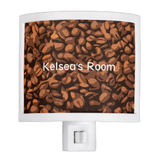 Modern Coffee Beans Personalized Nite Light