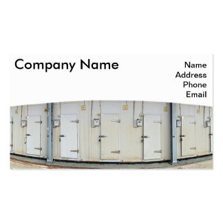 Modern Cold and Freezer Storage Facility Business Card