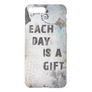 Modern Collage Each Day Is A Gift Quote iPhone 8 Plus/7 Plus Case
