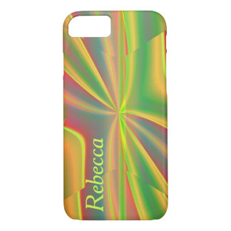 Modern Color Block metallic lemon neon green iPhone 8/7 Case