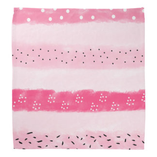 modern color block stripes white pink brushstrokes bandana