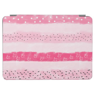modern color block stripes white pink brushstrokes iPad air cover
