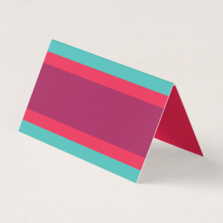 Modern Color Block Turquoise Pink Purple Place Card