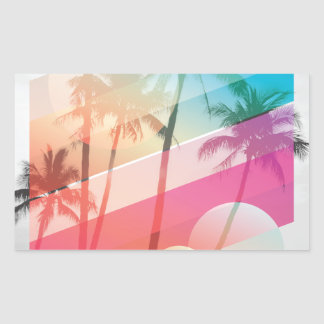 Modern Color stripes coconut trees background