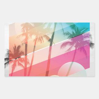 Modern Color stripes coconut trees background