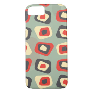 Modern colored curved rectangle pattern iPhone 7 case