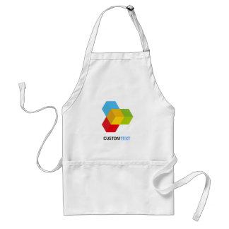 Modern Colorful 3D Cube Logo Adult Apron