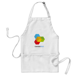 Modern Colorful 3D Cube Logo Standard Apron
