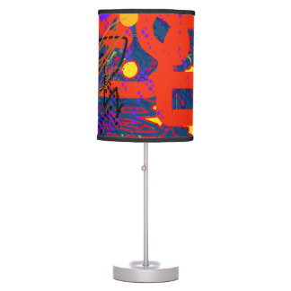 modern colorful abstract art desk lamps
