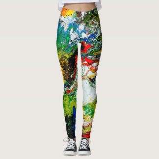 Modern colorful abstract art gym/yoga leggings
