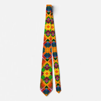 Modern Colorful Abstract Geometric Design Tie