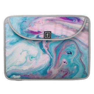 Modern Colorful Abstract Marble Swirls Sleeve For MacBook Pro