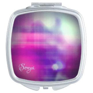 Modern Colorful Abstract Monogram Vanity Mirror