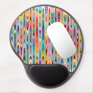 Modern Colorful Abstract Pattern Gel Mouse Pad