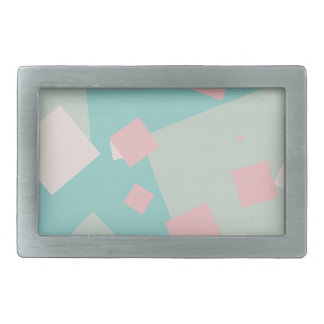Modern colorful cyan and pink boxes pattern belt buckle
