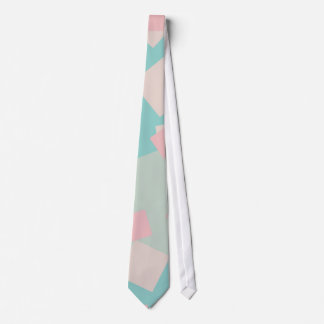 Modern colorful cyan and pink boxes pattern tie