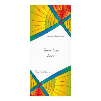 Modern colorful design customized rack card
