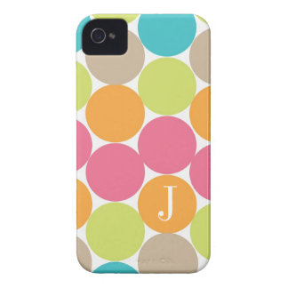 Modern Colorful Dots Personalized iPhone 4 Case-Mate Case