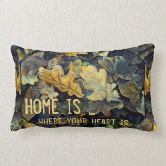 Modern Colorful Fall Leaves Autumn Pillow