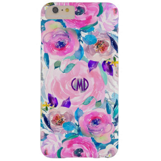 Modern Colorful Flowers Collage Pattern GR2 Barely There iPhone 6 Plus Case