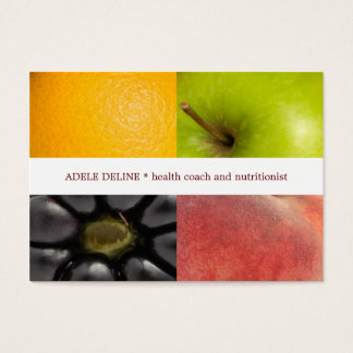 Modern Colorful Fruits Health Coach Nutritionist Business Card