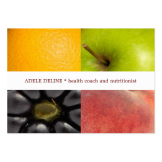 Modern Colorful Fruits Health Coach Nutritionist Large Business Card