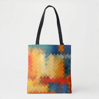 Modern Colorful Geometric Diamond Pattern Tote Bag