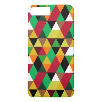 Modern Colorful Geometric Triangles Pattern 3 iPhone 7 Plus Case