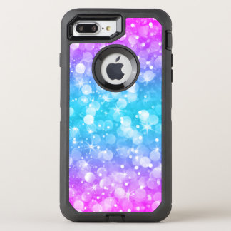 Modern Colorful Glam Bokeh Glitter GR2 OtterBox Defender iPhone 8 Plus/7 Plus Case