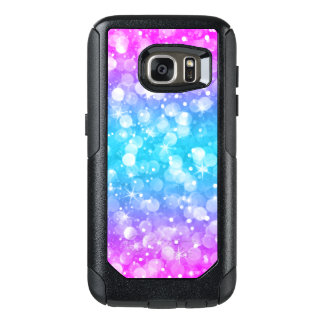 Modern Colorful Glam Bokeh Glitter OtterBox Samsung Galaxy S7 Case
