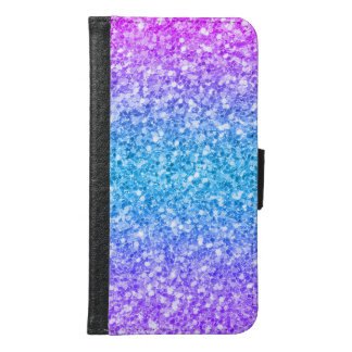 Modern Colorful Glitter Background Samsung Galaxy S6 Wallet Case