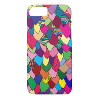 Modern | Colorful Hand Drawn Leaves iPhone 7 Case