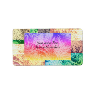 Modern colorful Holiday address label