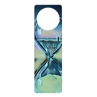 Modern Colorful Hourglass Door Hanger