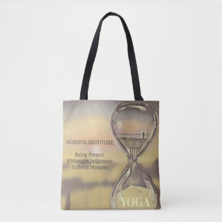 Modern Colorful Hourglass Yoga Mindfulness Tote Bag