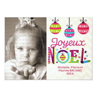 Modern Colorful Joyeux Noël Photo Card