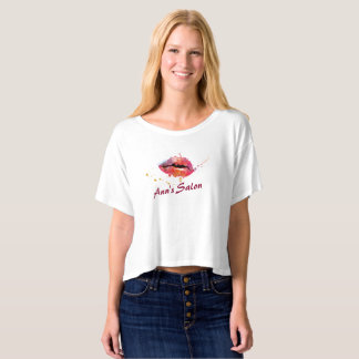 Modern Colorful Lips Makeup Hair Salon Number T-shirt