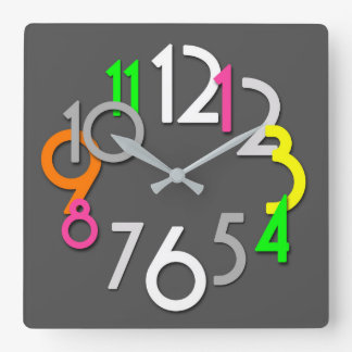 Modern Colorful Neon Wall Clock