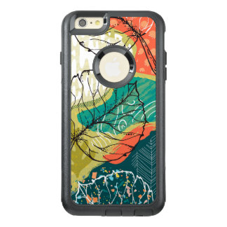 Modern Colorful Patchwork & Leafs Collage 2 OtterBox iPhone 6/6s Plus Case