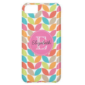 Modern Colorful Pattern Monogrammed Case-Mate iPhone Case