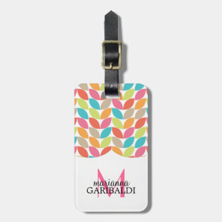Modern Colorful Pattern Personalized Luggage Tag