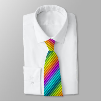 Modern Colorful Rainbow Stripes Pattern Tie