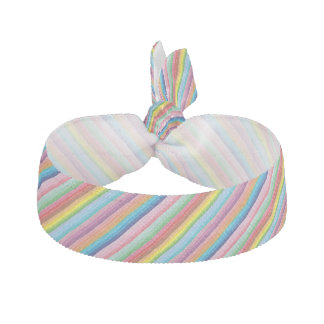Modern colorful striped pattern custom hair tie
