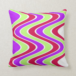 Modern Colorful Striped Throw Pillow