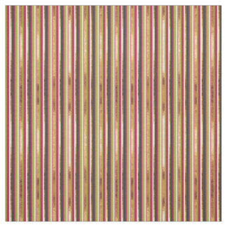 Modern Colorful Stripes in Gold Leaf Pink Green Fabric